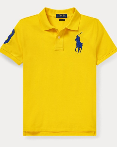 폴로 랄프로렌 Polo Ralph Lauren Slim Fit Cotton Mesh Polo,Lemon Rind