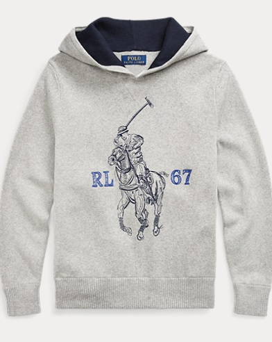폴로 랄프로렌 Polo Ralph Lauren Big Pony Cotton Hoodie,Andover Heather