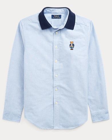 폴로 랄프로렌 Polo Ralph Lauren Polo Bear Cotton Oxford Shirt,Bsr Blue