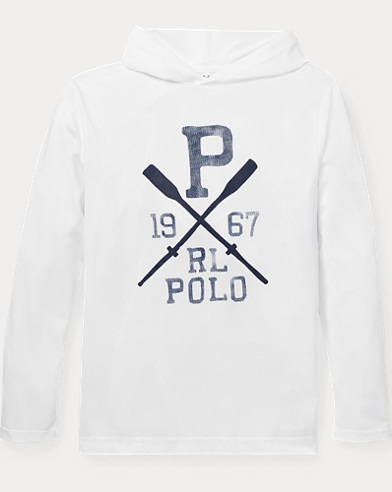 폴로 랄프로렌 Polo Ralph Lauren Stretch Hooded Cover-Up,White