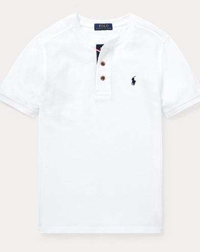폴로 랄프로렌 Polo Ralph Lauren Cotton Mesh Henley Shirt,White
