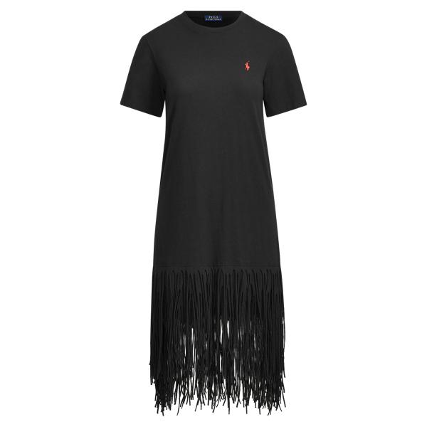 Ralph Lauren - Robe-chemise en coton à franges - 1
