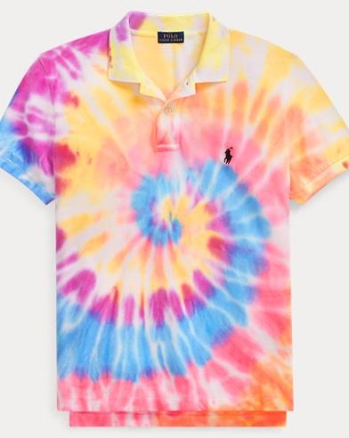 폴로 랄프로렌 Polo Ralph Lauren Classic Fit Tie-Dye Polo Shirt,Spiral Tie Dye