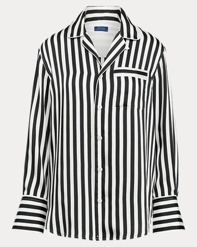 폴로 랄프로렌 Polo Ralph Lauren Striped Shirt,Polo Black/Trophy Cream