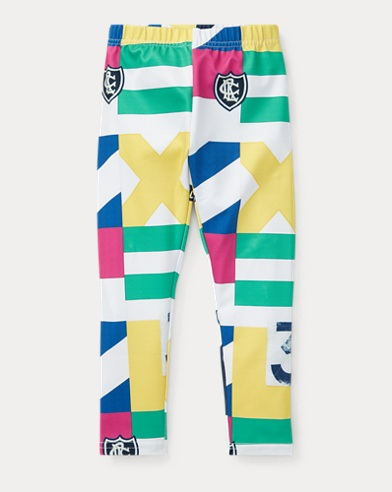 폴로 랄프로렌 Polo Ralph Lauren Patchwork Jersey Legging,Multi
