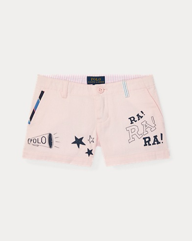 폴로 랄프로렌 여아용 반바지 Polo Ralph Lauren Chino Graphic Short,Hint Of Pink