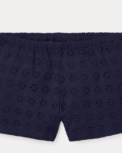 폴로 랄프로렌 여아용 반바지 Polo Ralph Lauren Eyelet Cotton Short,French Navy