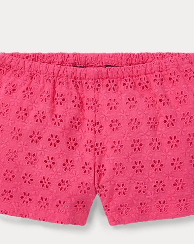 폴로 랄프로렌 Polo Ralph Lauren Eyelet Cotton Short,Ultra Pink