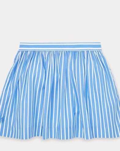 폴로 랄프로렌 Polo Ralph Lauren Striped Circle Skirt,Chopin Blue/White