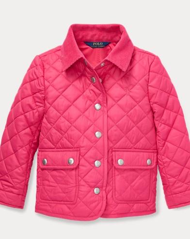 폴로 랄프로렌 여아용 퀼팅 자켓 핑크 Polo Ralph Lauren Quilted Barn Jacket,Ultra Pink