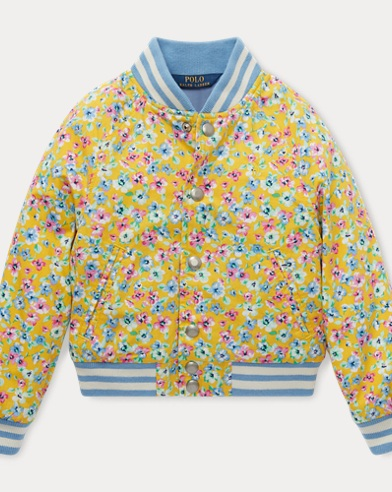폴로 랄프로렌 Polo Ralph Lauren Floral Baseball Jacket,Yellow Multi