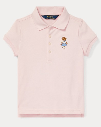 폴로 랄프로렌 Polo Ralph Lauren Cricket Bear Mesh Polo Shirt,Hint Of Pink