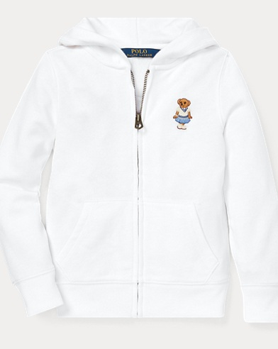 폴로 랄프로렌 Polo Ralph Lauren Cricket Bear Terry Hoodie,White