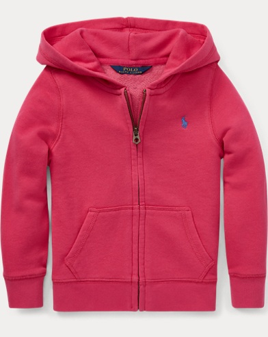 폴로 랄프로렌 Polo Ralph Lauren French Terry Full-Zip Hoodie,Ultra Pink