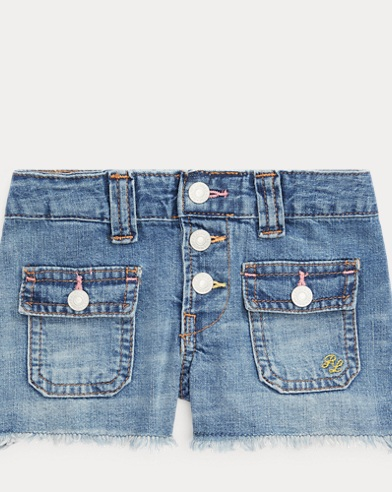 폴로 랄프로렌 Polo Ralph Lauren Patch-Pocket Denim Short,Olympia Wash