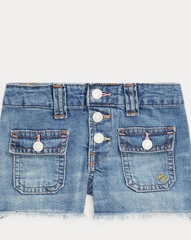 폴로 랄프로렌 여아용 데님 반바지 Polo Ralph Lauren Patch-Pocket Denim Short,Olympia Wash