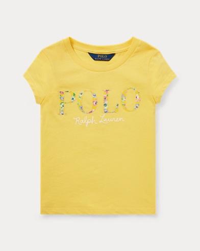 폴로 랄프로렌 Polo Ralph Lauren Floral Polo Jersey T-Shirt,Signal Yellow