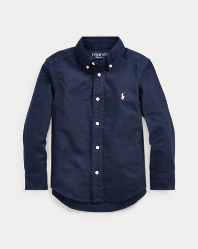 폴로 랄프로렌 Polo Ralph Lauren Pink Pony Cotton Oxford Shirt,RL Navy