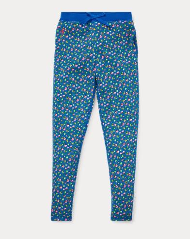 폴로 랄프로렌 Polo Ralph Lauren Floral Cotton Terry Pant,Blue Multi