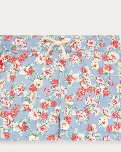 폴로 랄프로렌 걸즈 꽃무늬 프렌치 테리 반바지 Polo Ralph Lauren Floral French Terry Short,Blue/Red Multi