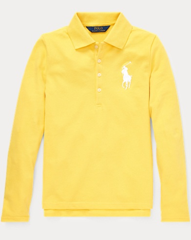 폴로 랄프로렌 Polo Ralph Lauren Big Pony Stretch Mesh Polo,Signal Yellow