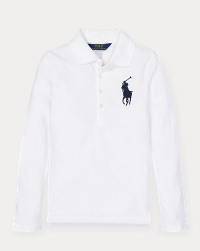 폴로 랄프로렌 Polo Ralph Lauren Big Pony Stretch Mesh Polo,White