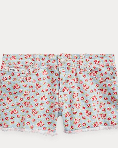 폴로 랄프로렌 Polo Ralph Lauren Floral Cotton Denim Short,Keilani Wash