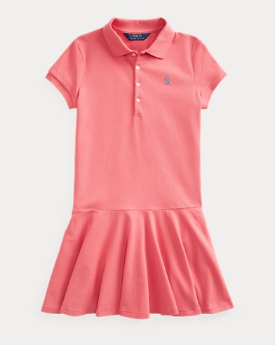 폴로 랄프로렌 Polo Ralph Lauren Stretch Mesh Polo Dress,Pale Red