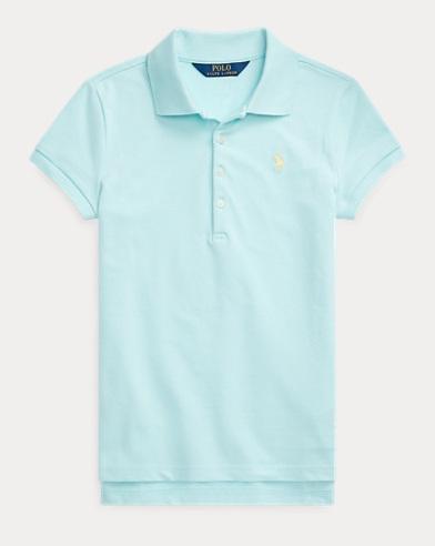 폴로 랄프로렌 Polo Ralph Lauren Stretch Cotton Mesh Polo Shirt,Island Aqua
