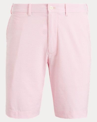 폴로 랄프로렌 Polo Ralph Lauren Classic Fit Golf Short,Pink Flamingo Seersucker