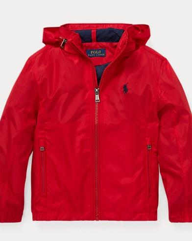 폴로 랄프로렌 남아용 바람막이 자켓 레드 Polo Ralph Lauren Hooded Windbreaker,RL 2000 Red
