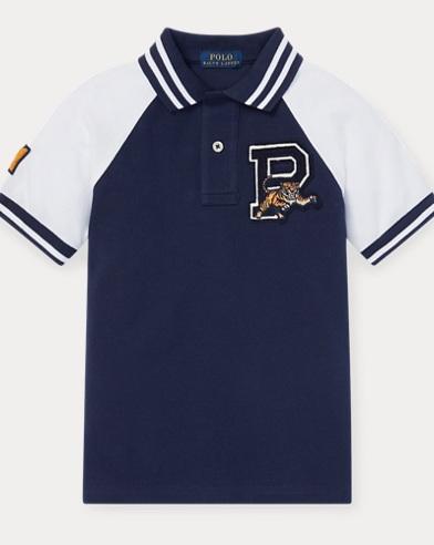 폴로 랄프로렌 남아용 그래픽 반팔 폴로셔츠 Polo Ralph Lauren Pique Graphic Polo Shirt,Newport Navy