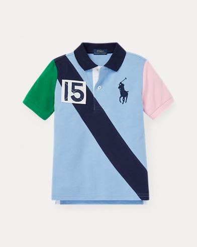 폴로 랄프로렌 남아용 반팔 폴로셔츠 Polo Ralph Lauren Cotton Mesh Polo Shirt,Collin Blue