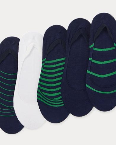 폴로 랄프로렌 Polo Ralph Lauren Low-Cut Liner Sock 5-Pack,Ncgrn