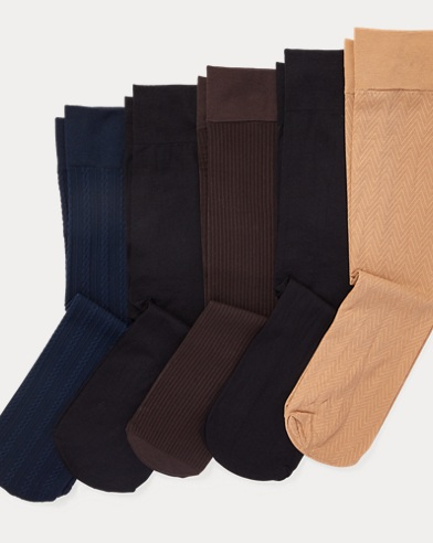 폴로 랄프로렌 Polo Ralph Lauren Stretch Trouser Sock 5-Pack,Assorted