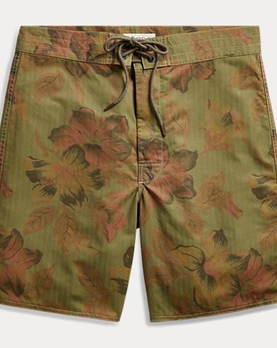 폴로 랄프로렌 Polo Ralph Lauren Floral Cotton-Blend Short,Green Multi