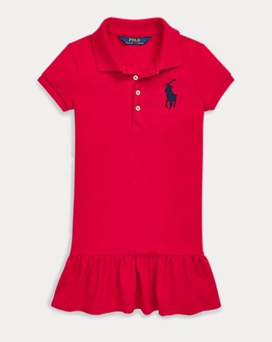 폴로 랄프로렌 Polo Ralph Lauren Stretch Cotton Mesh Polo Dress,Rl2000 Red