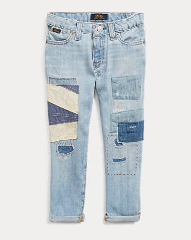 폴로 랄프로렌 여아용 슬림 청바지 Polo Ralph Lauren Astor Patchwork Slim Jean,Isadora Wash