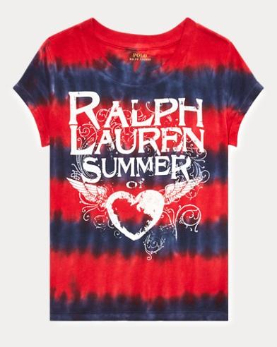 폴로 랄프로렌 Polo Ralph Lauren Tie-Dyed Cotton Jersey Tee,French Navy/Rl2000 Red