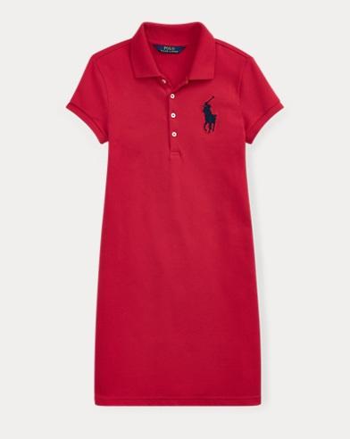 폴로 랄프로렌 Polo Ralph Lauren Big Pony Mesh Polo Dress,Rl2000 Red