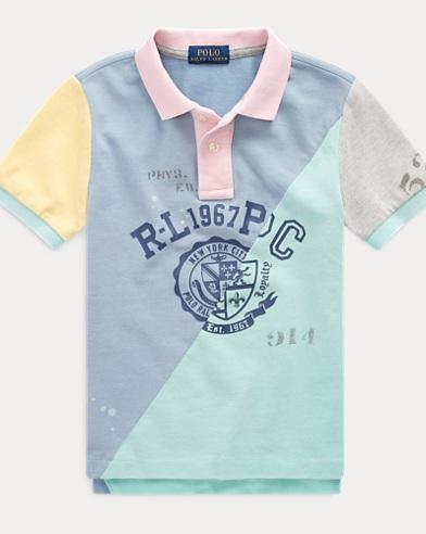 폴로 랄프로렌 남아용 패치워크 반팔 폴로셔츠 Polo Ralph Lauren Patchwork Cotton Mesh Polo,Patchwork