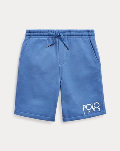 폴로 랄프로렌 Polo Ralph Lauren Cotton-Blend Graphic Short,Bastille Blue