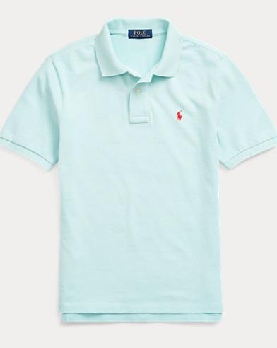 폴로 랄프로렌 Polo Ralph Lauren Cotton Mesh Polo Shirt,Bayside Green