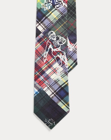 폴로 랄프로렌 Polo Ralph Lauren Plaid Graphic Narrow Tie,Multi