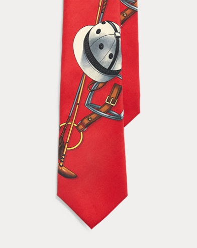 폴로 랄프로렌 Polo Ralph Lauren Polo Helmet Silk Tie,Red