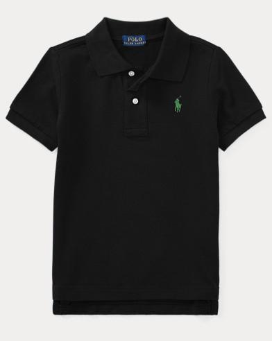폴로 랄프로렌 남아용 반팔 폴로셔츠 Polo Ralph Lauren Cotton Mesh Polo Shirt,Black