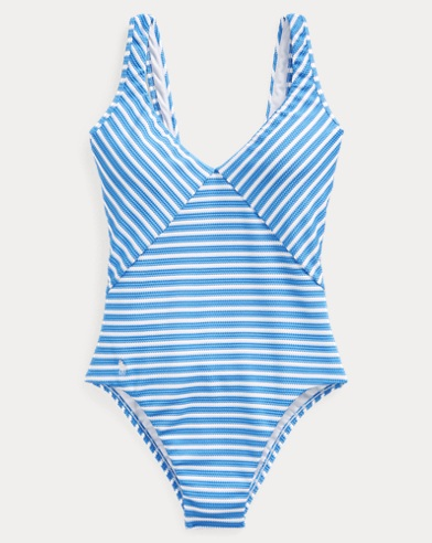 폴로 랄프로렌 Polo Ralph Lauren Striped One-Piece Swimsuit,Pool