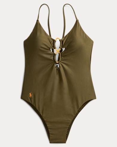 폴로 랄프로렌 Polo Ralph Lauren Bungee One-Piece Swimsuit,Olive