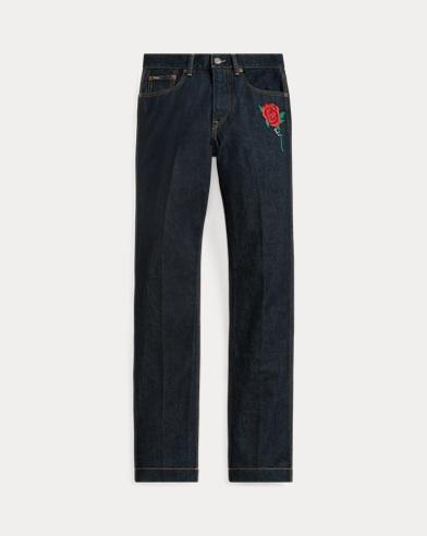 폴로 랄프로렌 Polo Ralph Lauren Reede High-Rise Straight Jean,Dark Indigo