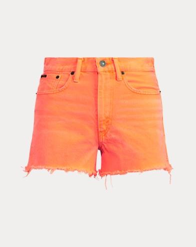 폴로 랄프로렌 Polo Ralph Lauren The Shawe High-Rise Short,Neon Orange